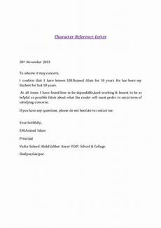 Character Letter Example Character Reference Letter