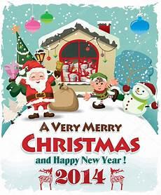 Chrismas Posters Vintage Christmas Poster Design With Santa Claus Stock