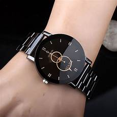 Steel By Design Watch Kevin Unique Design Watch For Men Women Black Round Dial