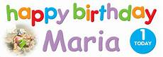Colorful Happy Birthday Banner Colourful Kids Birthday Banner With Photo Personalised