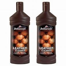 2 x 235ml astonish leather suite cleaner restorer sofa