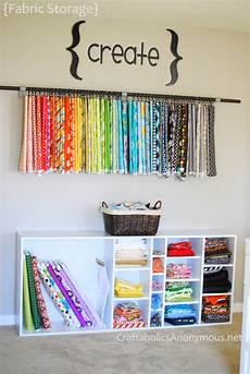 fabric storage and fabric organization ideas