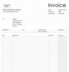 Blank Printable Invoices Free Blank Invoice Template For Excel