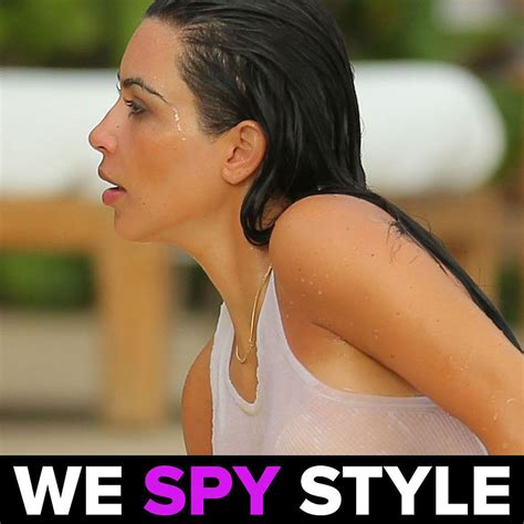 Kim Kardashian Wet T Shirt