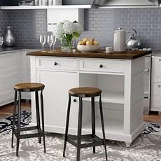 wayfair kitchen island darby home co gilchrist kitchen island set reviews