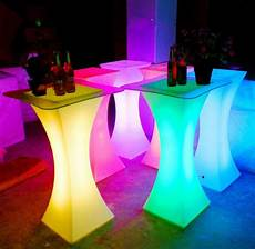 Led Party Table Lights 2019 New Rechargeable Led Luminous Cocktail Table