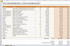 Remodel Worksheet Tools For Homeowners Menara