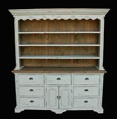 farmhouse buffet and hutch distressed white wood