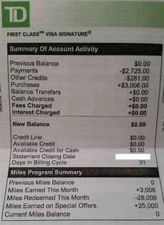Td Bank Statements Td Bank First Class Visa Credit Card Review Chasing The