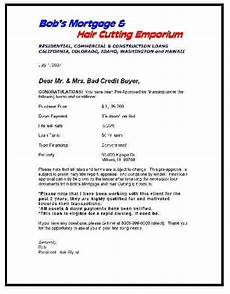 Pre Approval Letter Sample Screening Pre Approval Letters From The Lenders