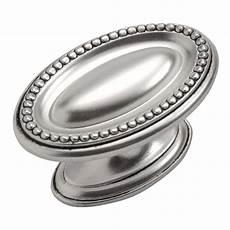 oval knob satin antique silver 1 3 4 quot p3600 sas