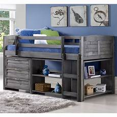 donco louver low loft bed with storage wayfair