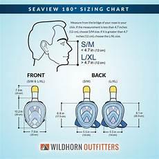 Respirator Mask Size Chart Seaview 180 176 Full Face Surface Snorkel Masks Wildhorn