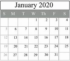 January 2020 Calendar Download Free January 2020 Blank Calendar Printable Pdf Excel Word