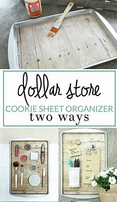 how to diy a magnetic organizer from a dollar store cookie