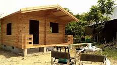 build wooden house time lapse amazing log house building