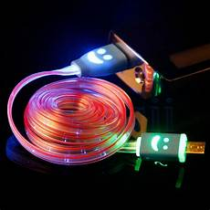 Wireless Phone Charger Light Up Flowing Visible Led Light Up Micro Usb Data Sync Charger