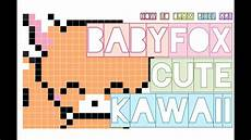 Graph Paper Art Step By Step How To Draw Cute Baby Fox Kawaii Easy Step By Step Doodle
