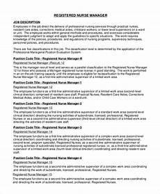 Nursing Supervisor Job Description Sample Registered Nurse Job Description