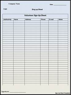 Free Sign In Template 45 Sign Up Sign In Sheet Templates For Excel Amp Word