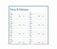 Free Address Templates 40 Printable Amp Editable Address Book Templates 101 Free