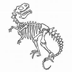 bekijk fossielen en dino skeletten 0004 kleurplaat