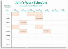 Daily Weekly Schedule Free New Weekly Amp Daily Schedule For Work School And