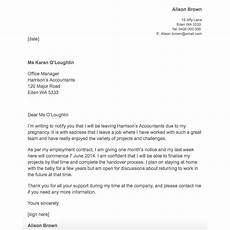 Notice For Maternity Leave Letter 21 Simple Two Weeks Notice Letter Resignation Templates