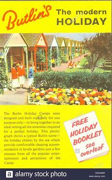 Advertisement Leaflets Advertising Leaflet For Butlin S Holiday Camps Stock Photo