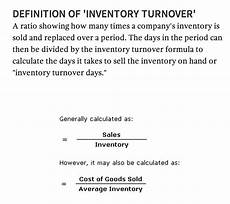 Inventory Turnover Ratio Formula Inventory Turnover Definition
