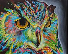 Colorful Owl Art Owl Painting By Harvin Alert With Images Owl Art Print