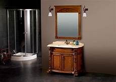 maple solid wood bathroom cabinet with mirror