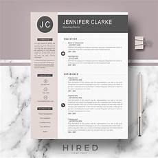 Modern Professional Resume Template Quot Quot Hired Design Studio