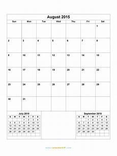 Calendar 2015 August August 2015 Calendar Blank Printable Calendar Template