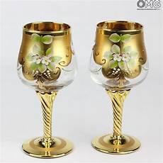 bicchieri vetro di murano set di 2 bicchieri tre fuochi cristallo you me vetro