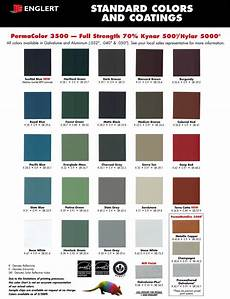 Morton Building Color Chart Color Charts From Manufacturers We Use Bensalem Metal