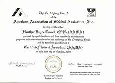 Certified Medical Assistant Qualifications Certificates Awards And Reference Letters Nursing Portfolio