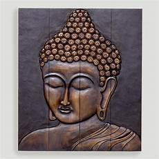Buddha Face Designs Wood Buddha Face Wall Hanging World Market