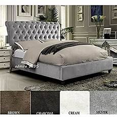 ifc brando wing back chesterfield king size bed frame