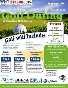 Golf Outing Flyers Wny Heroes Inc Golf Tournament Glen Oak Flyer Ideas