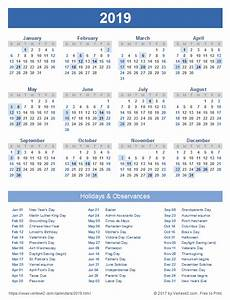 Dsny 2019 Chart Calendar Download A Free Printable 2019 Calendar With Holidays From