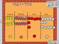 Place Value Chart With Disks Addtion Using Place Value Discs Youtube