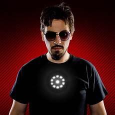 Tony Stark Light Up Led Iron Man T Shirt Tony Stark Light Up Led Iron Man Shirt