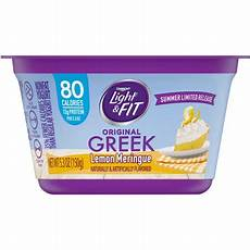 Dannon Light And Fit Greek Lemon Meringue Light Amp Fit Nonfat Lemon Meringue Greek Yogurt 5 3 Oz