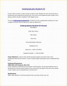Curriculum Vitae Examples For Students 5 Undergraduate Student Cv Free Samples Examples