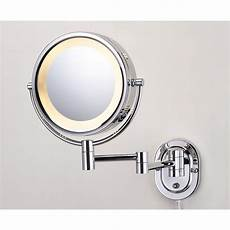 Jerdon Lighted Mirror Jerdon 10 In X 14 In Lighted Wall Mirror In Chrome