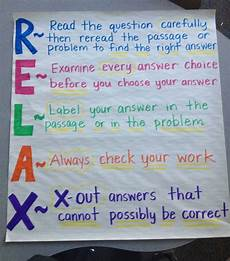 Testing Strategies Anchor Chart Pin On Anchor Charts Upper Elementary