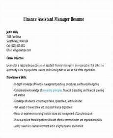Cv For Finance Assistant 20 Professional Finance Resume Templates Pdf Doc