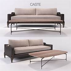 Sofa With Table 3d Image by Castedesign Chalk Sofa Table 3d Cgtrader