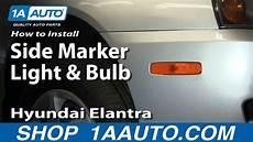 Hyundai Elantra Light Removal How To Install Replace Side Marker Light And Bulb Hyundai